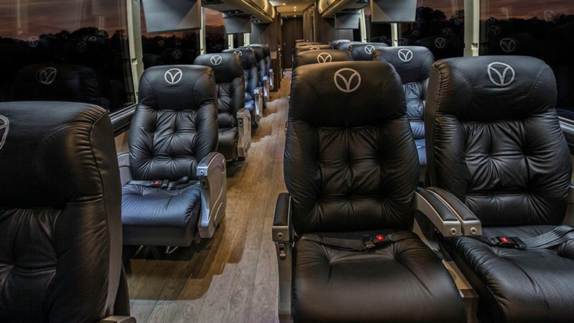 Pioneer Travels Luxury Coach interior